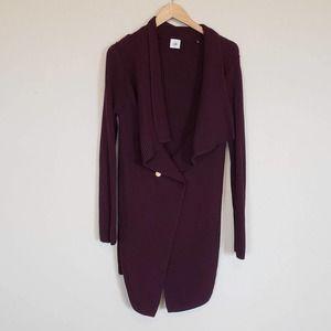 CAbi #3350 Regal Cardigan Sweater Burgundy Medium